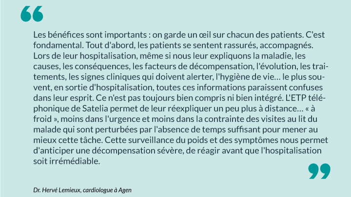 Citation du Dr. Hervé Lemieux, cardiologue à Agen